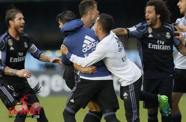 ريال مدريد يهزم سيلتافيجو بالأربعة ونقطة واحدة تفصله عن لقب الدوري الأسباني