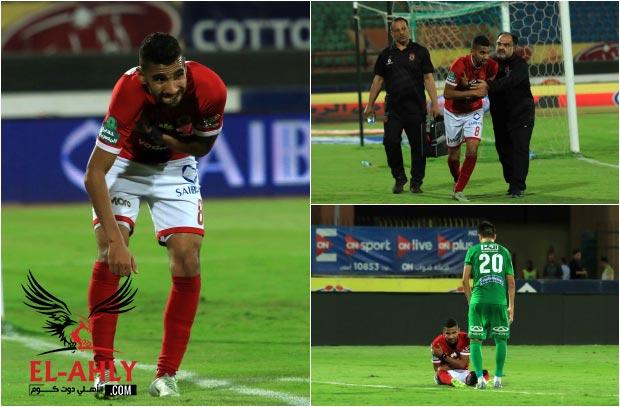 شاهد اصابة قوية في الكتف لمؤمن زكريا خلال مباراة الشرقية - الأهلي.كوم