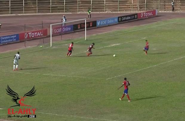 الأهلي يخطف القطن الكاميروني بالهدف الثاني في دقيقتين