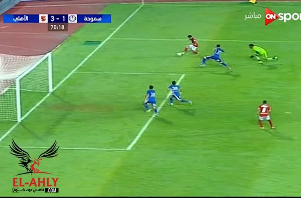 صالح جمعة يعود بقوة ويسجل هدفه الثاني في مرمى سموحة