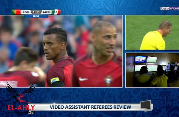 اول مرة في كاس القارات .. حكم الفيديو يلغي هدف اول للبرتغال