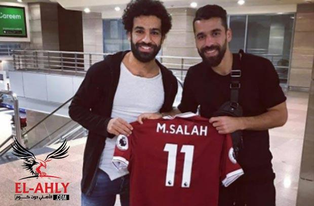 """محمد صلاح """"من ليفربول"""" يحتفل بثنائية الأهلي في القطن"""