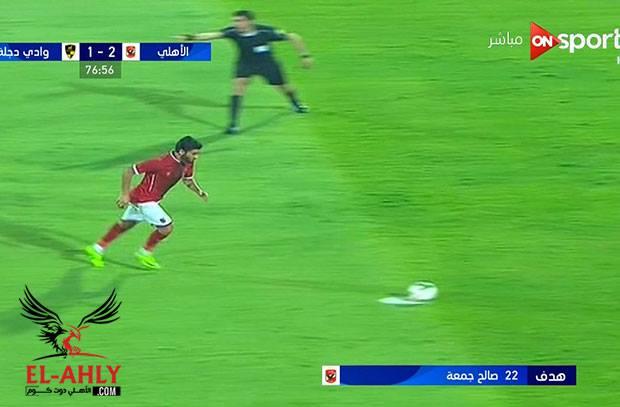 الأهلي يكرر لقطة الشوط الأول ويسجل الهدف الثاني