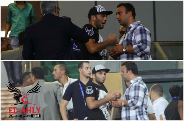شاهد عماد متعب يساند الأهلي أمام الوحدة الإماراتي من المدرجات
