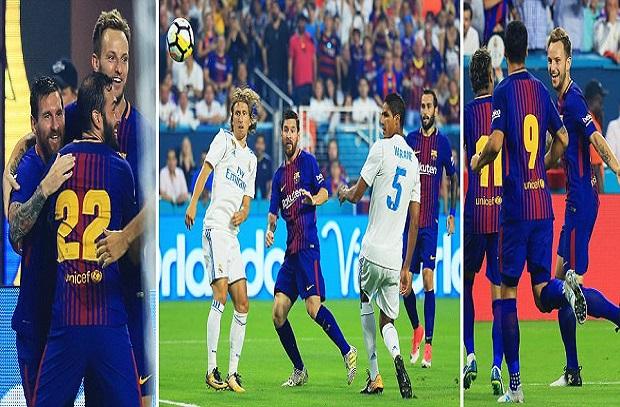 حتي في الودي ناري ... برشلونة يفوز علي الريال في مباراة ممتعة