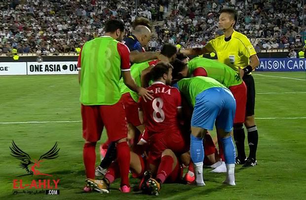 بعد سيناريو درامي .. سوريا تعيد امل كأس العالم بهدف قاتل بأقدام السوما