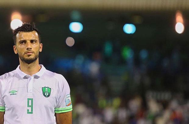 عمر السومة يسجل هدف ويكسر عقدته مع أهلي جدة