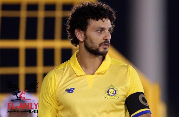 لاعبو النصر يقيمون احتفال لحسام غالي بمناسبة تأهل مصر للمونديال