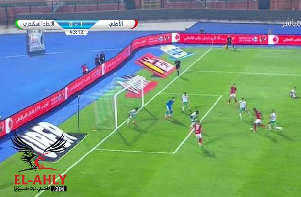 """الأهلي ينهي شوط """"فرص أزارو الضائعة"""" بالتقدم 1-0 على الإتحاد"""