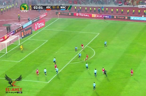 مؤمن زكريا يفتتح أهداف المباراة مبكراً بهدف عالمي في شباك الوداد