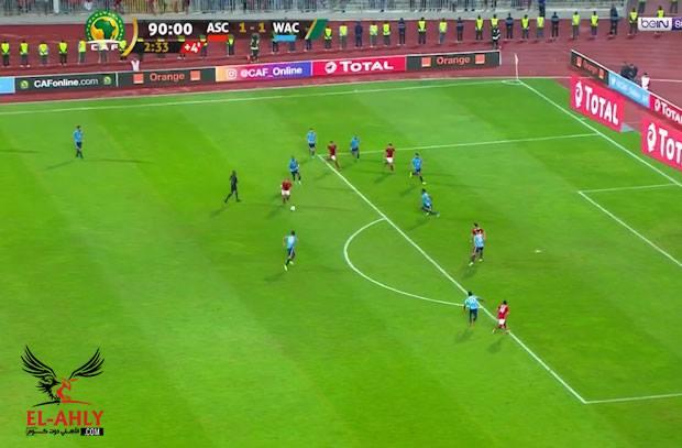 الكرة تعاند متعب وتمنع هدف  +90 للأهلي أمام الوداد