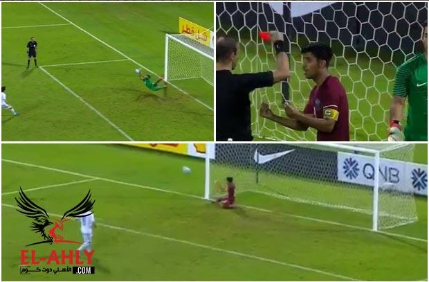 """قطر تتأهل لكأس آسيا للشباب بسيناريو """"درامي"""" بعد طرد حارسها خلال ركلات الترجيح"""
