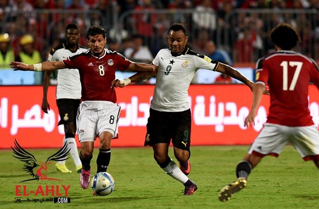 موعد مباراة مصر وغانا في تصفيات كأس العالم والقنوات الناقلة بتعليق الطيب