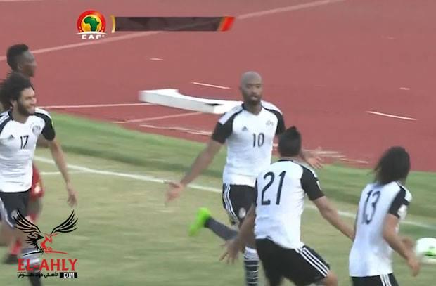 شيكابالا يكتب التاريخ ويسجل اول اهدافه الرسمية مع منتخب مصر