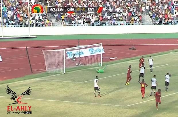 غانا ترد بسرعة بعد هدف شيكابالا وتسجل هدف التعادل في شباك مصر
