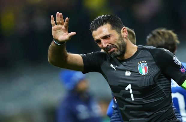 بوفون يعلن إعتزال اللعب الدولي بعد الفشل في التأهل للمونديال