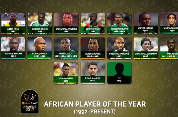 قبل إعلان جائزة أفضل لاعب أفريقي.. تعرف على الفائزون في 25 عام