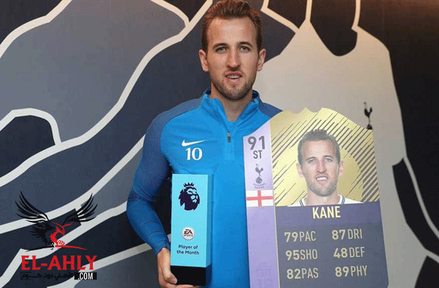كين يتفوق على صلاح ويتوج بجائزة لاعب الشهر في الدوري الإنجليزي