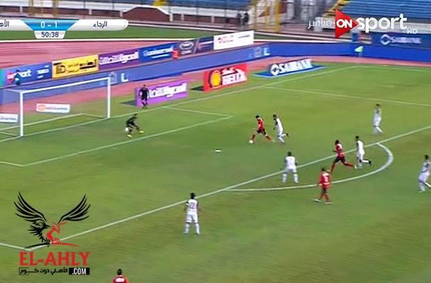 أجايي يُهدي أزارو هدف التعادل للأهلي في مرمى الرجاء