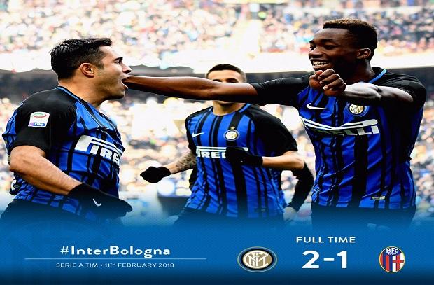الأنتر يفوز علي بولونيا في مباراة مجنونة بعد 8 مباريات بلا فوز