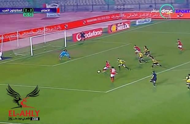 وليد سليمان يضيع هدف جديد امام مرمي المقاولون