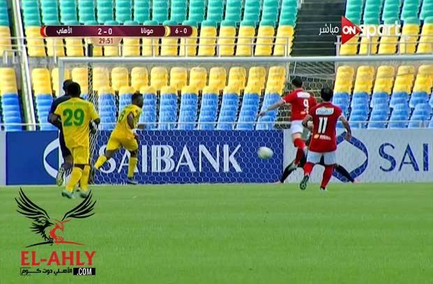 وليد أزارو يسجل الهدف الثاني للنادي الأهلي في شباك مونانا