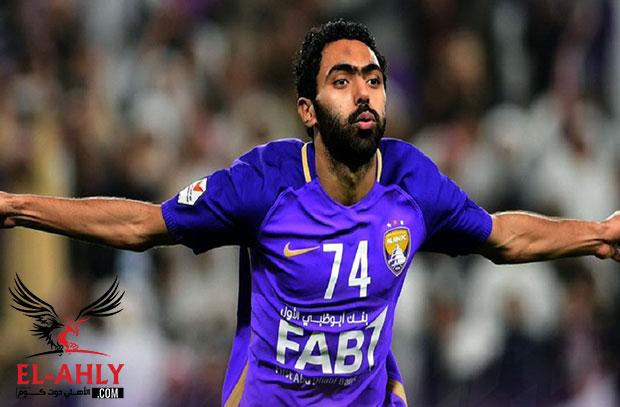 حسين الشحات مرشح لجائزة أفضل لاعب في الدوري الاماراتي