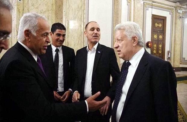 مرتضى منصور: فرج عامر بيعمل شوية من بتوعي والحكم المصري لا يؤثر في نتيجة المباراة