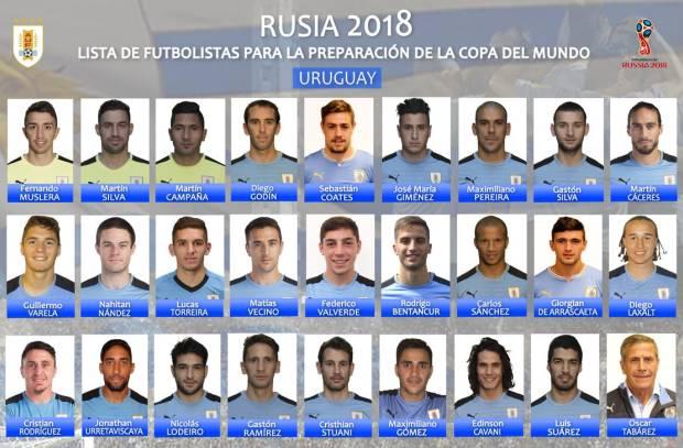 منافس مصر .. أوروجواي تعلن عن قائمة أولية تضم 26 لاعب للمشاركة في المونديال