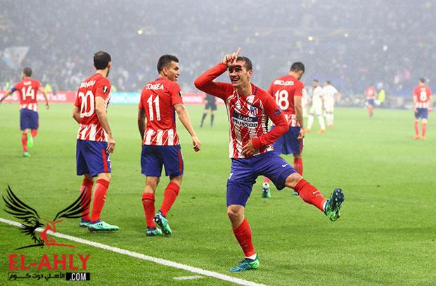 أتلتيكو مدريد يكتسح مارسيليا بثلاثية ويتوج بلقب الدوري الأوروبي
