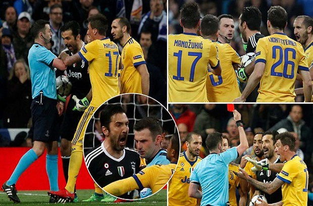 بسبب ريال مدريد .. إيقاف بوفون 3 مباريات في دوري أبطال أوروبا