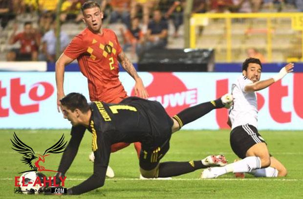 كورتوا: مباراة مصر لم تكن سهلة .. تريزيجيه كان مصدر خطورة كبيرة علينا