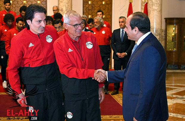 كوبر للرئيس السيسي: الجهاز واللاعبون سيبذلون أقصى ما لديهم لإسعاد الشعب المصري