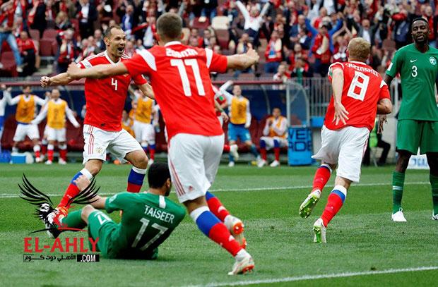 روسيا تسحق السعودية بخماسية نظيفة في افتتاح كأس العالم
