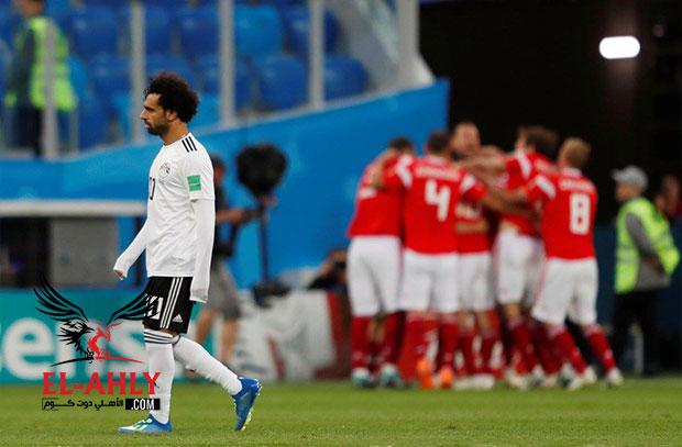 مصر تقترب من توديع المونديال بالخسارة بثلاثية امام روسيا
