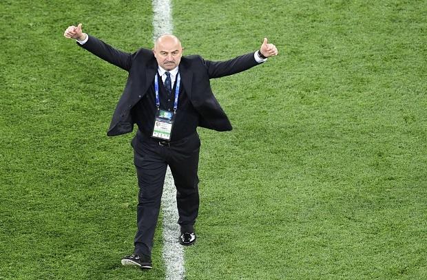 مدرب روسيا : تعجبت من قدرتنا على تسجيل ثلاثة أهداف في مرمى مصر