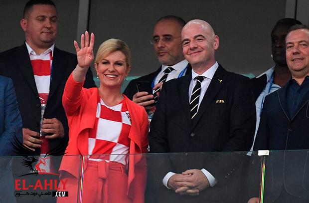 السبب الذي منع رئيسة كرواتيا من خطف الأضواء في مباراة إنجلترا