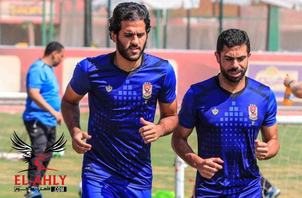 استمرار معاناة أحمد فتحي وباسم علي يعود للتدريب الجماعي قبل لقاء الإسماعيلي