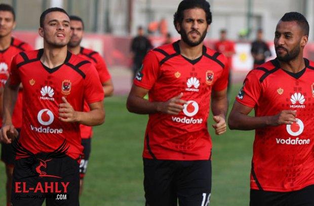 صلاح محسن يغادر مران الأهلي بعد الإصابة