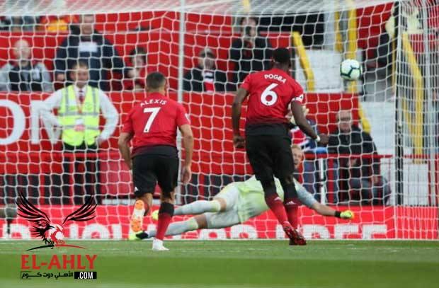 بوجبا يفتتح أهداف الدوري الإنجليزي لهذا الموسم عن طريق ركلة جزاء