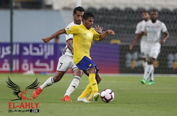 موسى يسجل أول أهدافه ويضع للنصر قدمًا في دور الـ16 بالبطولة العربية على حساب الجزيرة