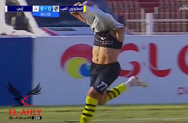 مدرب المقاولون العرب ينفعل على لاعبه: انت صغير يا ابني علشان تعمل كدة؟