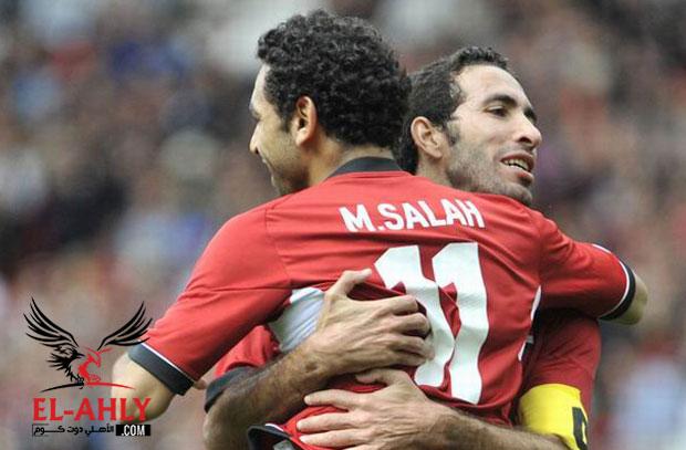 محمد صلاح يعادل رقم أبو تريكة مع منتخب مصر