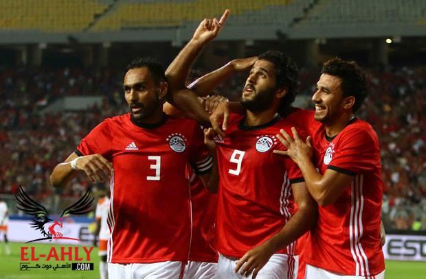 مصر تكتفي بثلاثة أهداف نظيفة في شباك النيجر في الشوط الأول