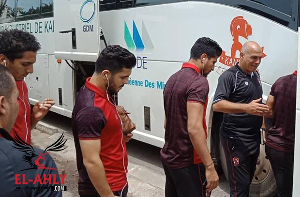 الأهلي يتوجه لملعب مباراة حوريا .. والجاليات العربية تساند الأحمر في غينيا
