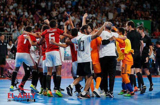 فرحة مجنونة ولقطات مؤثرة في فوز منتخب مصر لكرة الصالات بالميدالية البرونزية
