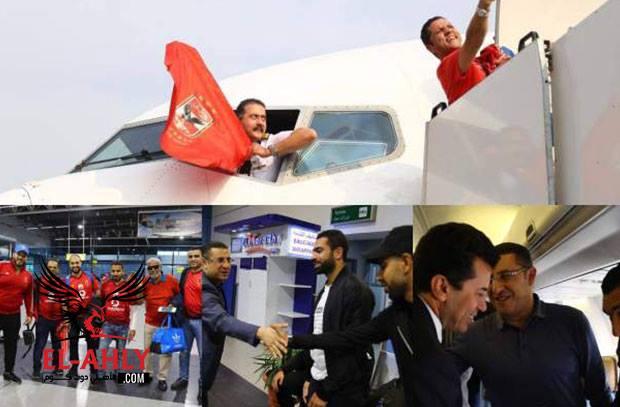 بقيادة سداسي الأهلي والوزير.. شاهد جمهور المارد الأحمر قبل السفر إلى تونس