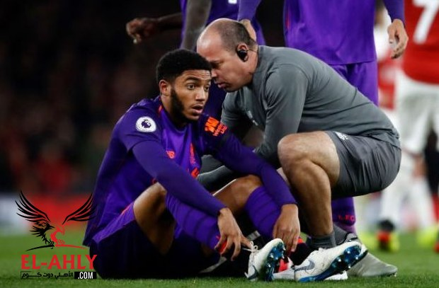 كسر في ساق مدافع ليفربول واللاعب يغيب لسنة أسابيع