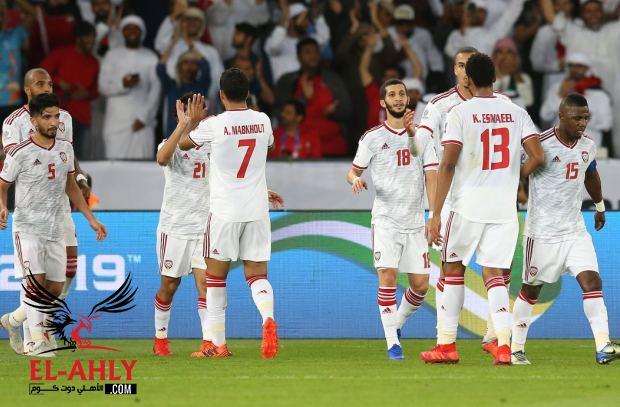 كأس آسيا .. الإمارات تتأهل بعد ثنائية الهند