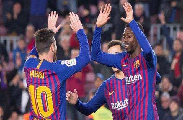 ميسي وديمبلي يدعمان برشلونة في رحلة بلباو